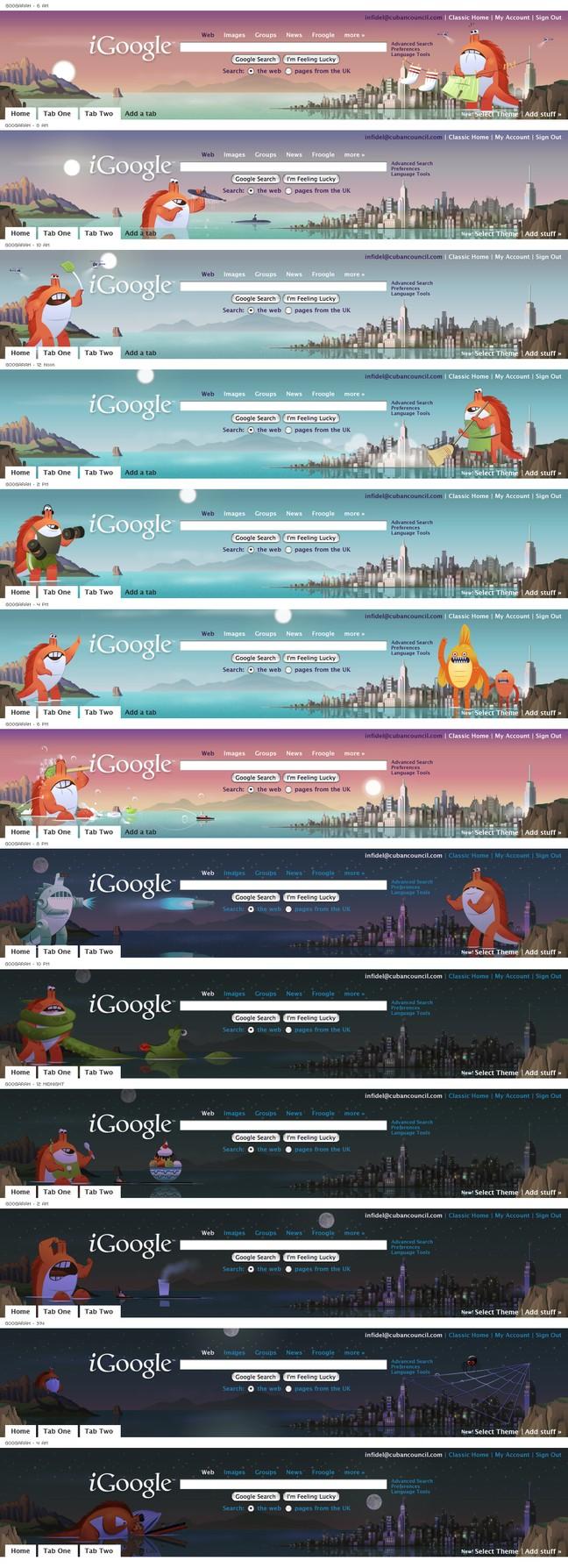 Google themes personalized homepage - Art By Trevor Van Meter