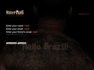Hairy Mail - Sending a message