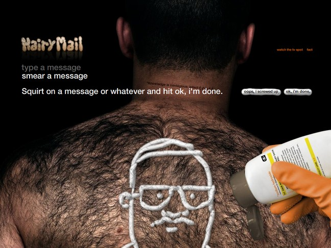 Hairy Mail - Freehanding a message