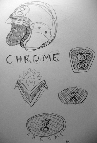 Chrome logo sketches